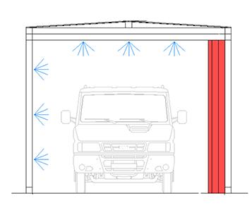 disegno tunnel igienizzante automezzi