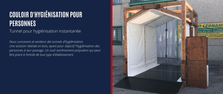 couloir d'hygiénisation pour personnes